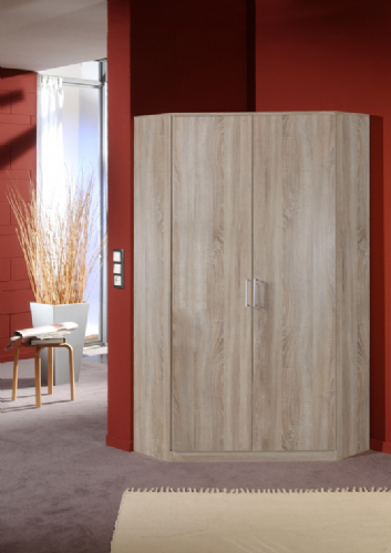 Venice Oak Effect 2 Door Corner Wardrobe - 2373